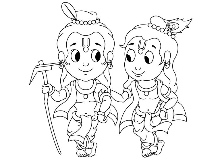 krishna face coloring pages - Baby Krishna Images Coloring Pages